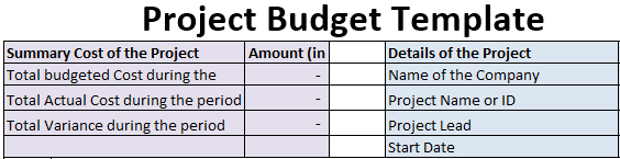 How to create Project Budget Template