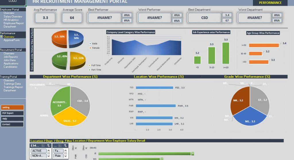 Recruitment Tracker Spreadsheet: